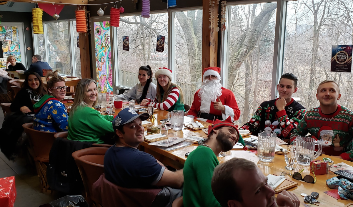 Team lunch with Santa!