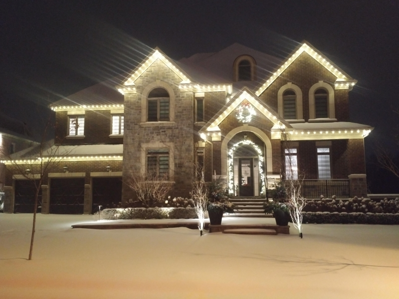 Elegantly framed house in King City with Warm white c9 Lights