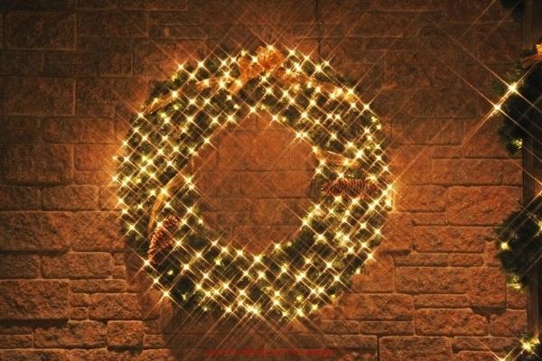 46 inch Custom Christmas decorated wreath