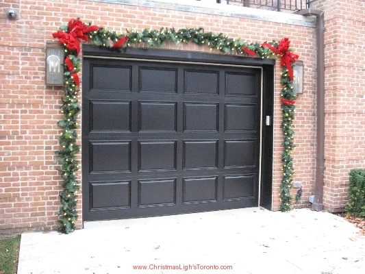 This could be your home with LawnSavers Christmas decorators premium lit garland with Brick red custom bows