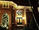 King City Christmas Decorations 60 inch wreath  with C9 LED Fascia lighting