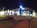 Cosmos Music HQ Lit up for Christmas Parade in Richmond Hill