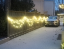 Fence with warm white 5mm LED light swags