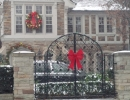 Front iron gates can still be decorated with Custom Bows