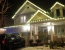 Christmas C9 Lights Warm White on house in York Region