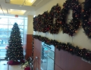 St. Joes Toronto Wreaths in front lobby