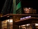 st-joes-hospital-toronto-christmas-decoration-melnyk-pavilion-tree-of-lights-fascia-lighting-garland-on-poles-by-lawnsavers