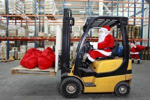 Santa Claus working at LawnSavers